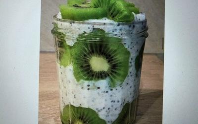 Porridge jar Kiwi-graines de chia