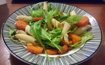 Salade chaude colorée