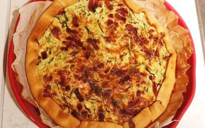 Tarte courgettes lardons super facile