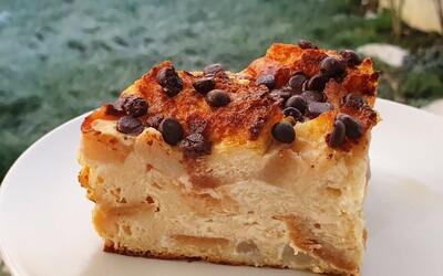 Gâteau de pain perdu poire-chocolat