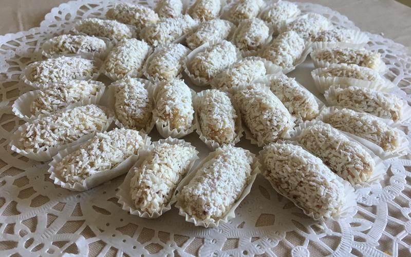 Douceurs sans cuisson coco/amandes