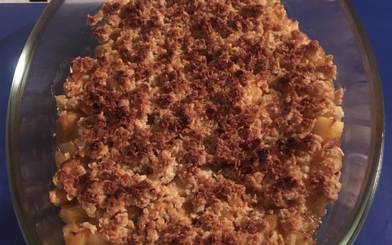 Crumble Pomme-Banane Healthy
