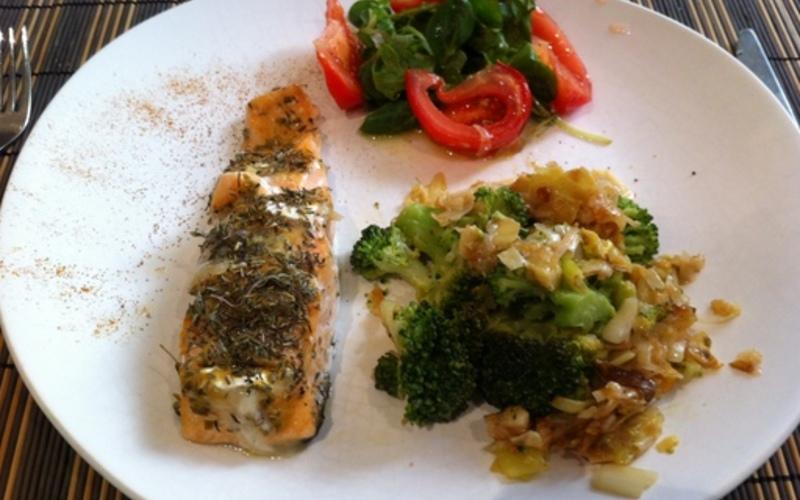 Recette pav de saumon au ch vre moutarde conomique et - Comment cuisiner des paves de saumon ...