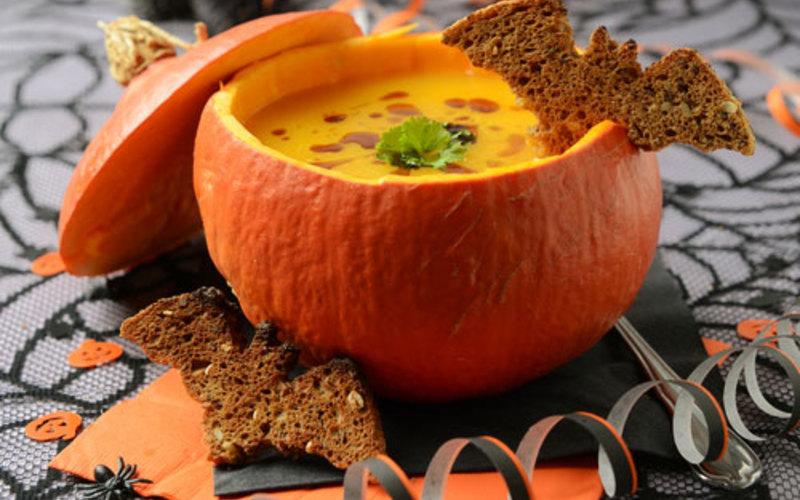 velouté  au potiron  (spécial Halloween)