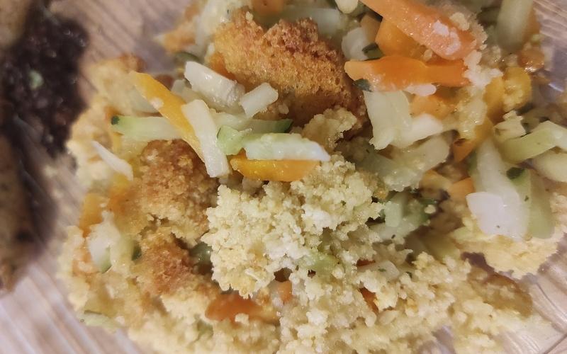 Crumble salé de légumes