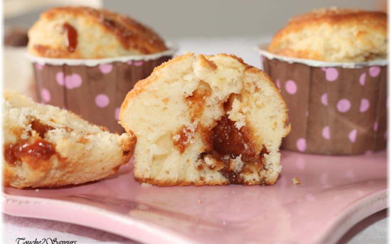Muffins fondants au caramel beurre salé