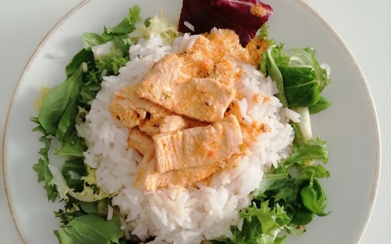 Poulet curry avec riz