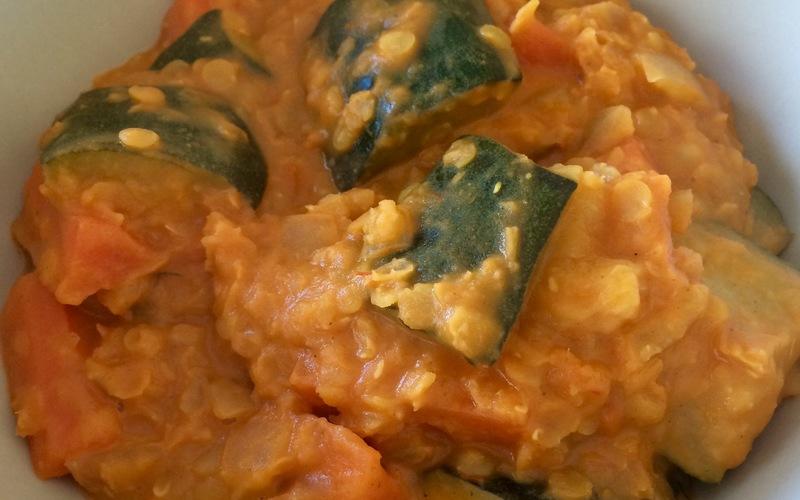 Curry de Courgettes aux lentilles corail