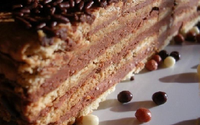 Gâteau petits bruns et chocolat