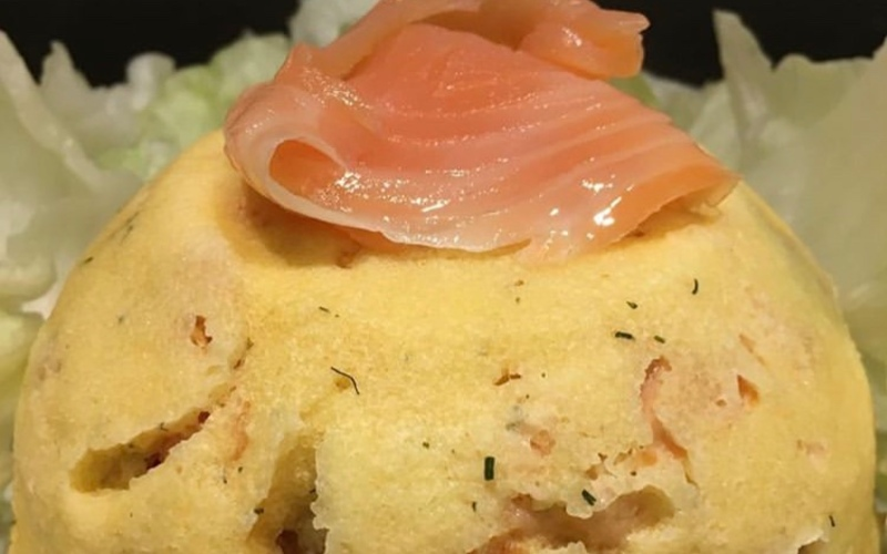 Bowlcake semoule fine-saumon fumé