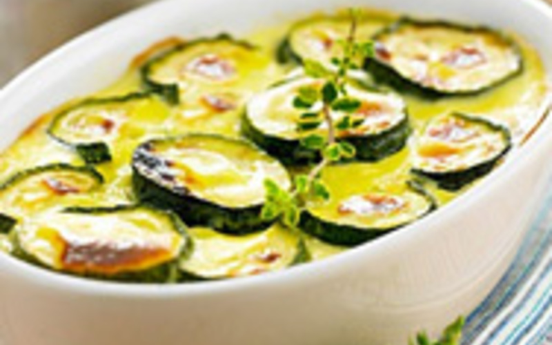 Gratin courgettes tomates boeuf