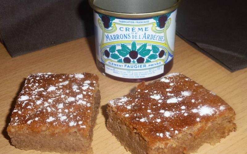 fondant à la crème de marron