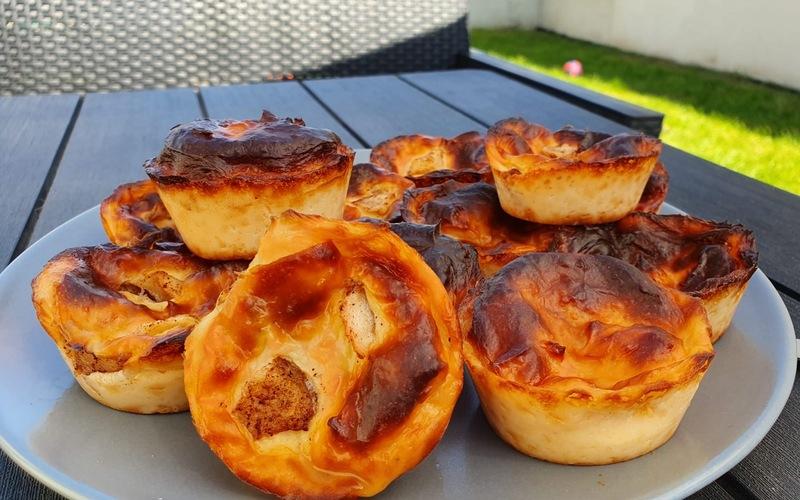 Minis flans sans pâte natures ou pommes-cannelle
