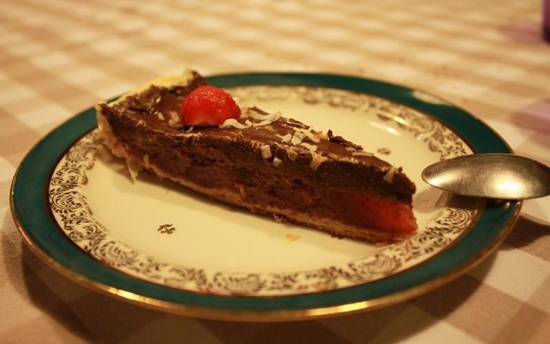 Tarte fraise chocolat (vegan)