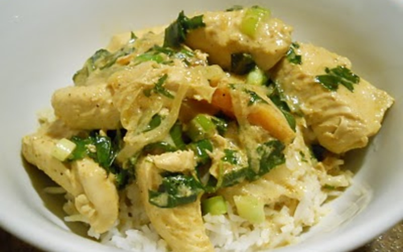 Curry thaï au poulet