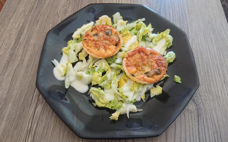Tartelettes tomates/courgettes