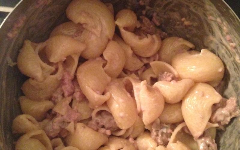 Pâtes au Gorgonzola et viande haché !