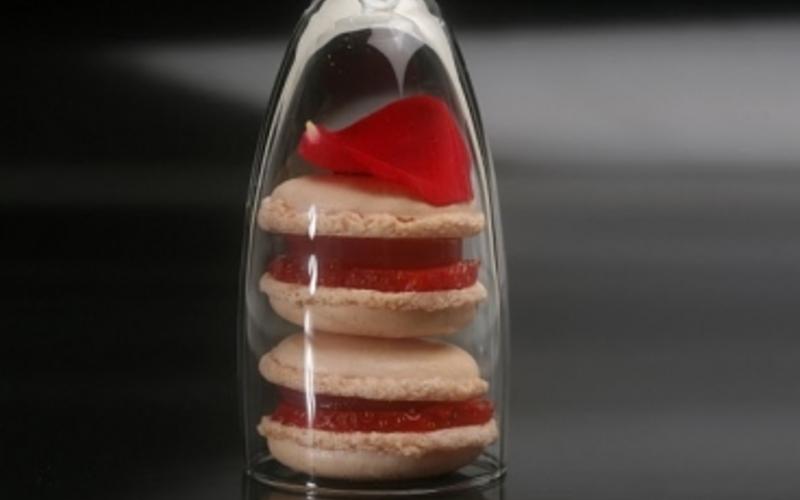 Recette de Macaron champagne rosé et fraises
