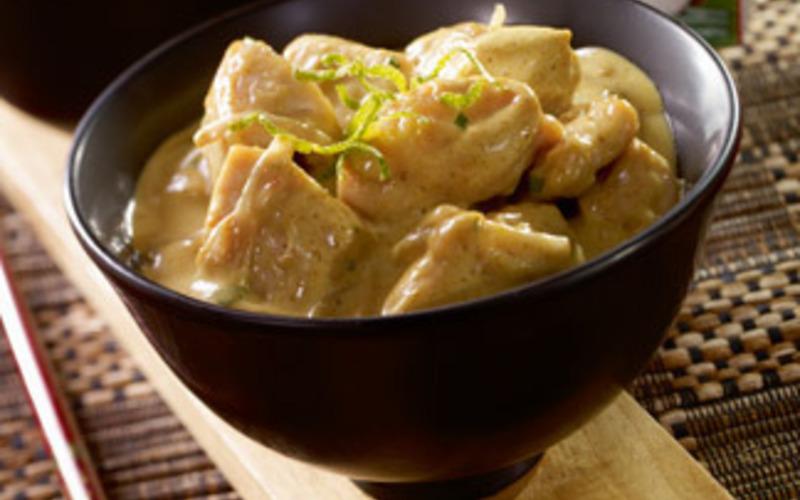 Recette curry de poulet au lait de coco pas ch re et rapide cuisine tudiant - Poulet au curry et lait de coco ...