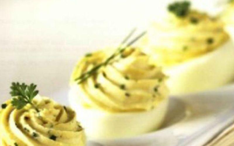 Oeufs mimosa ciboulette