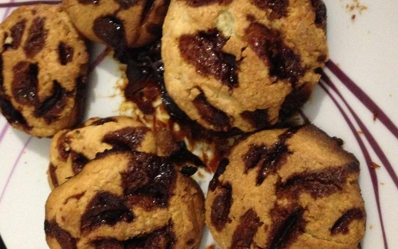 Cookies coeur et pépites caramel beurre salé