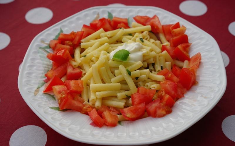 Pâtes au basilic et parmesan