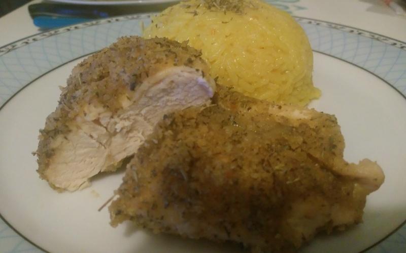 escalope de poulet et riz au curry