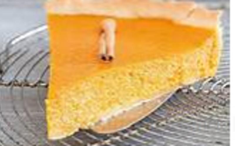tarte au potiron et à la cannelle