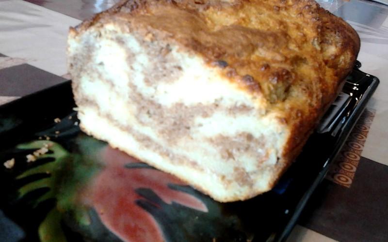 Gâteau marbré pomme / spéculoos