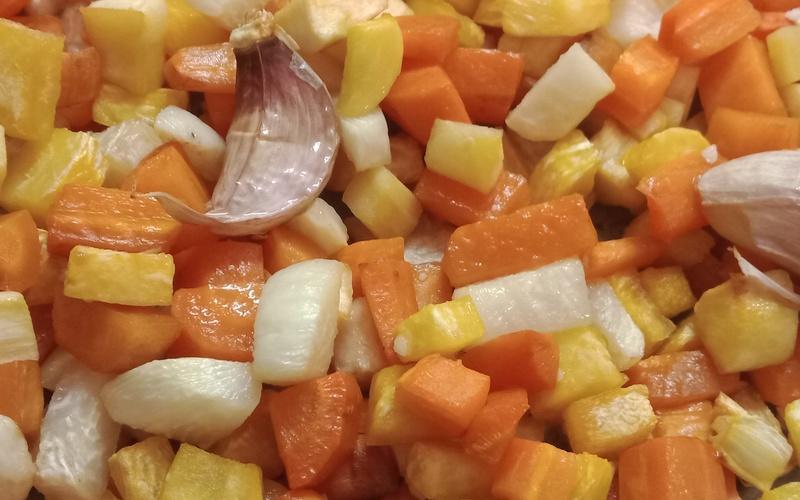 Fournée de légumes racines