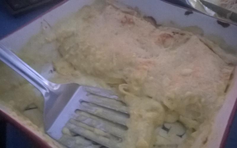 Lasagnes de poulet au curry