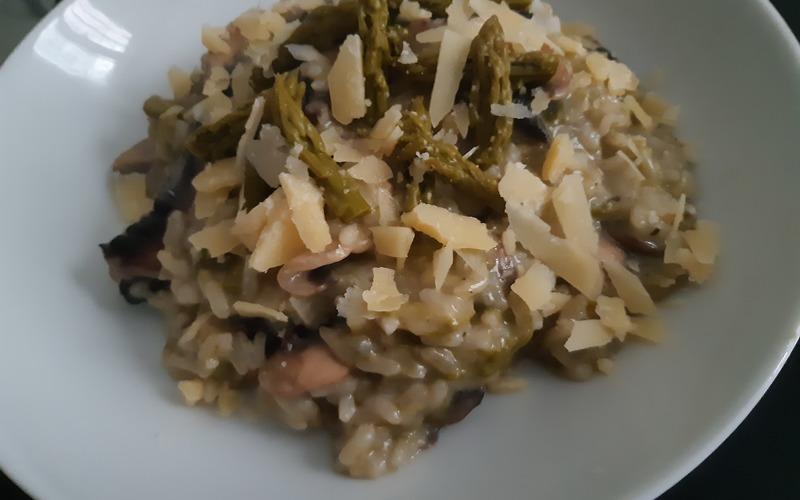 Risotto asperges & champignons