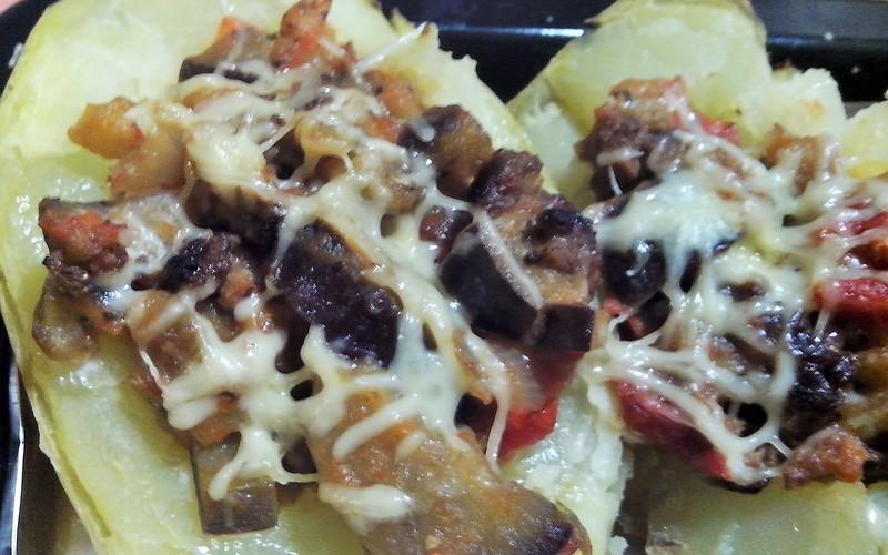 Pomme de terre farcie légumes-viande
