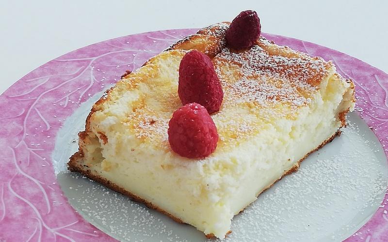 Gâteau au fromage blanc et zeste de citron