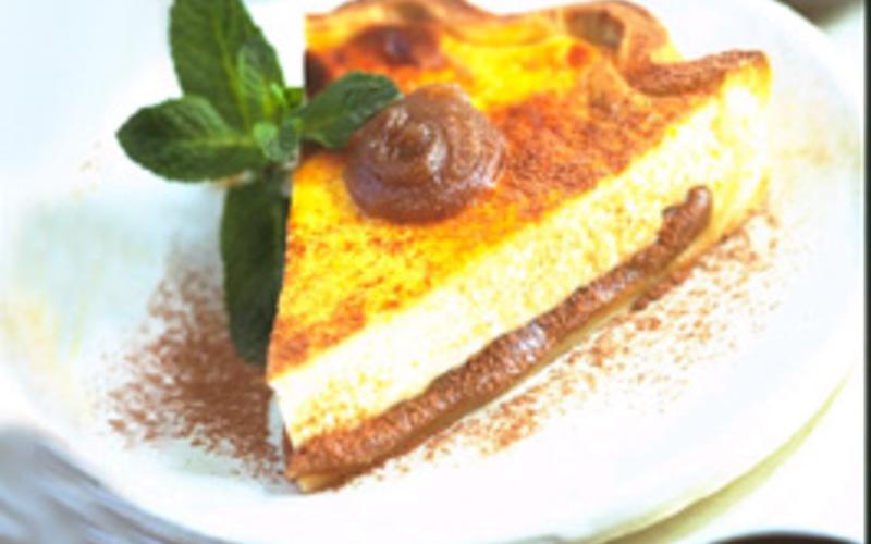 Tarte crème de marron et fromage blanc