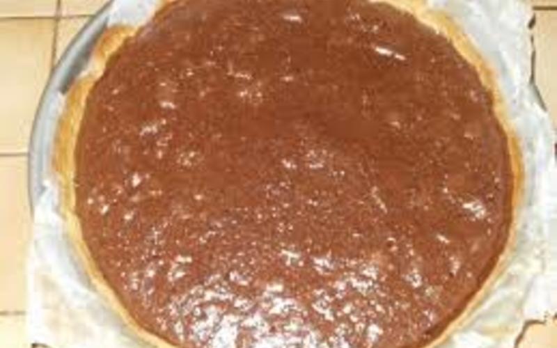 tarte au chocolat et noix