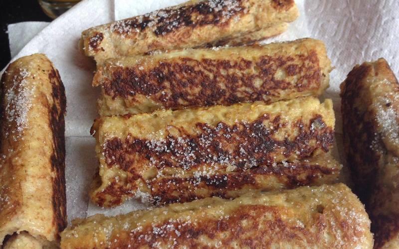 Roulés façon pain perdu au nutella