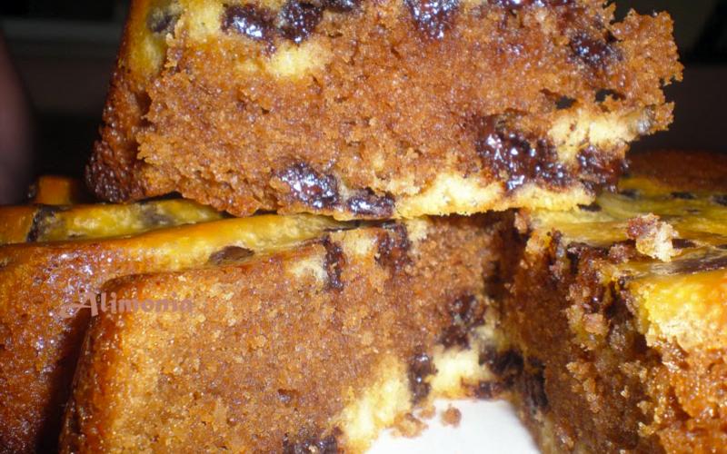 Gâteau chocolat façon stracciatella au micro-onde