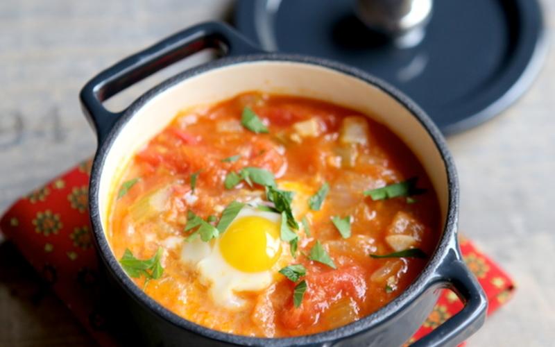 Oeuf cocote tomaté