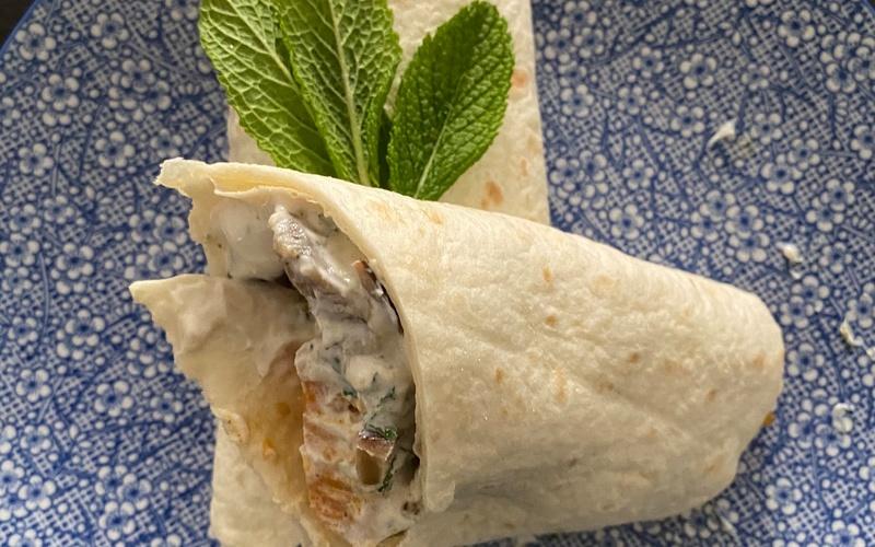 Wrap aubergine/patate douce