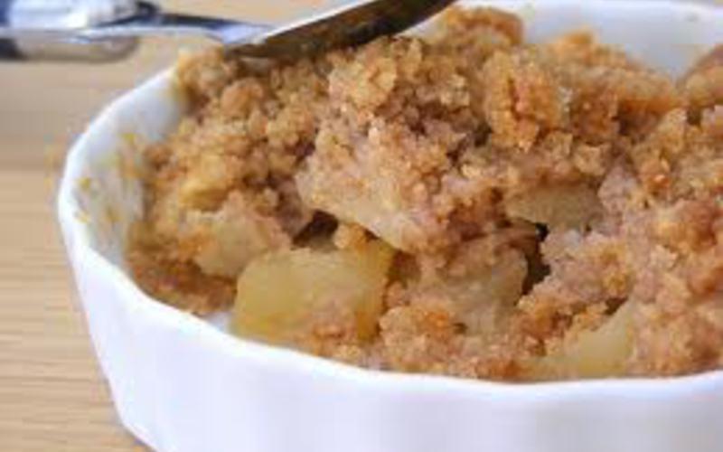 Crumble Pommes Poires