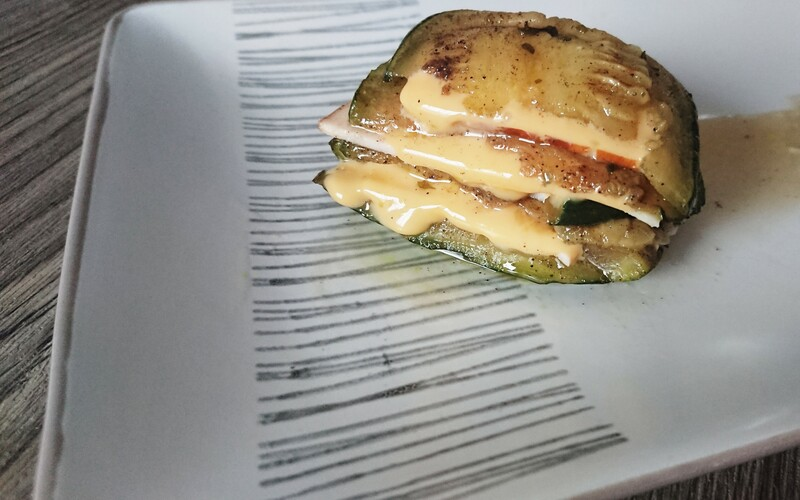 Millefeuille poulet courgette