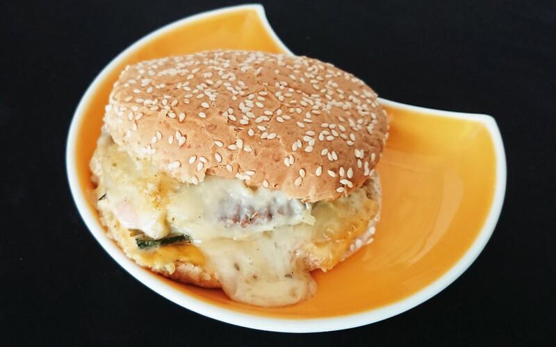 Burger raclette/courgette