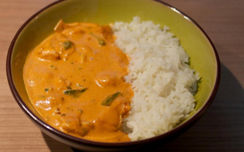 Poulet Coco Curry Rouge