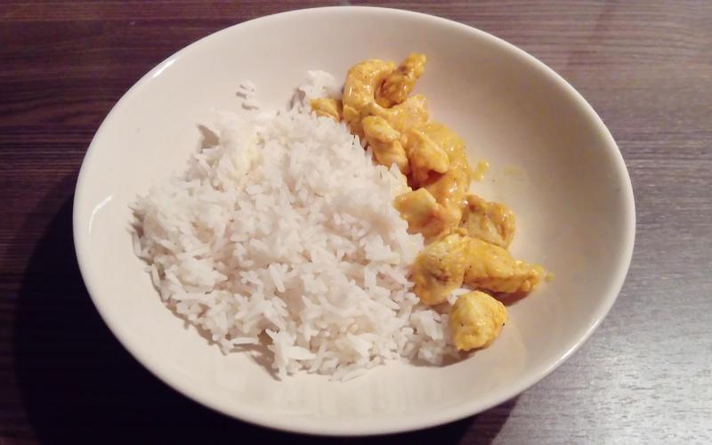 Poulet citron/curry