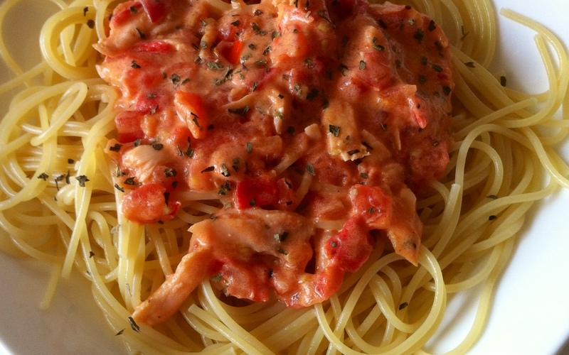 Pâtes saumon/tomate