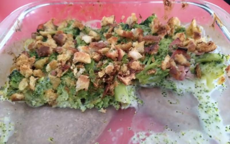 Gratin de brocolis au curry