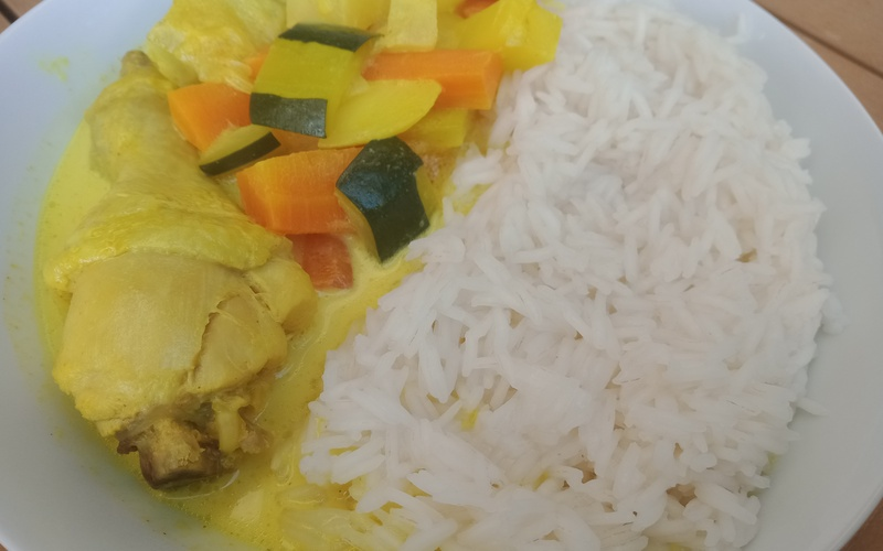 Curry de poulet et légumes d'automne