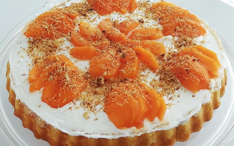 Gâteau aux abricots frais