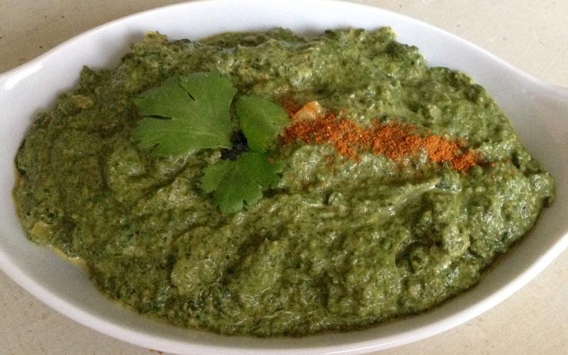 riz complet au curry d'épinards et aux lentilles